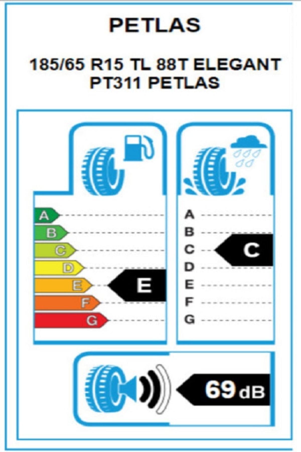 Petlas 185/65r15 88t Elegant Pt311 Yaz Lastik (Üretim:2020) 2
