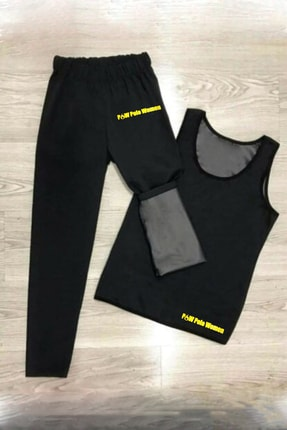 P&W Polo Women Unisex Sauna Terleme Sweat Polymer Üst Alt Atlet Tayt Termal Takım