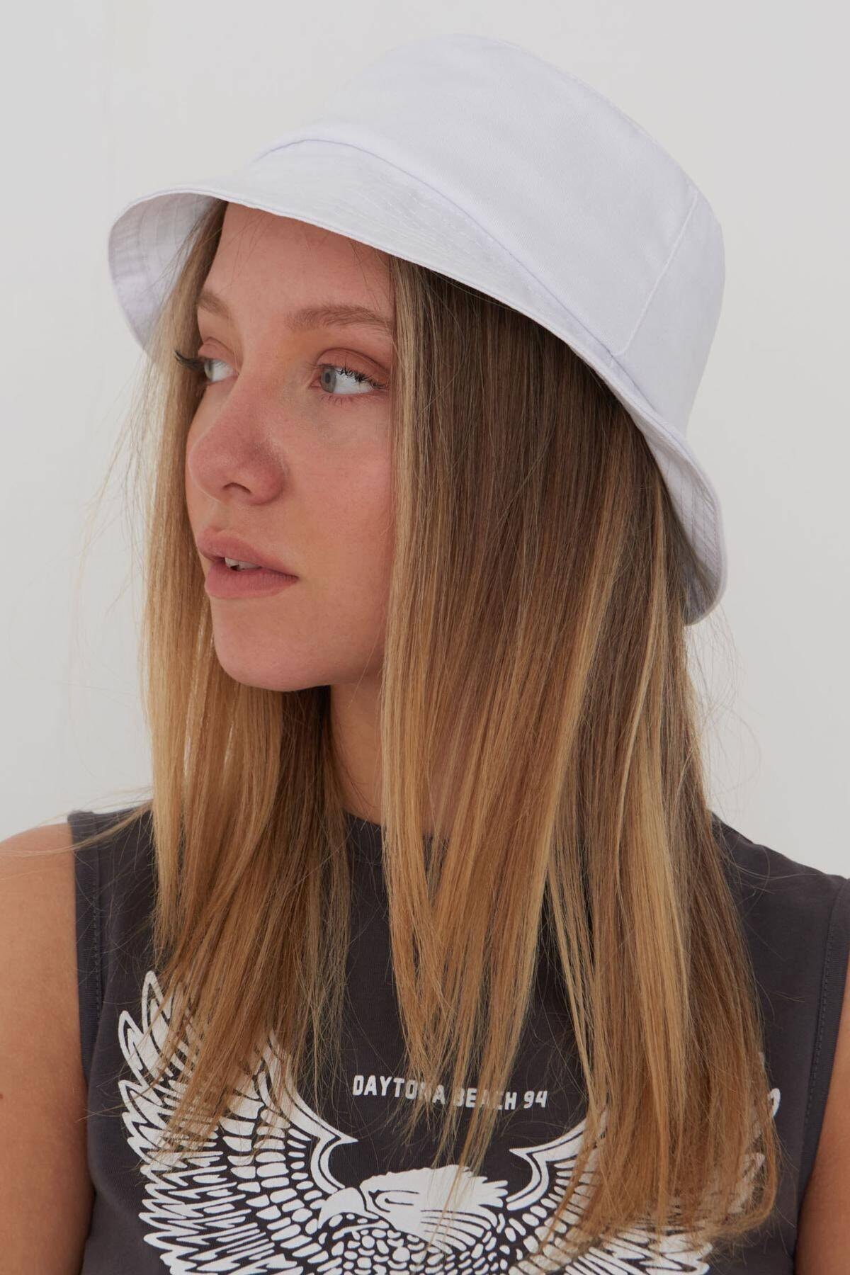 Addax Kadın Beyaz Şapka