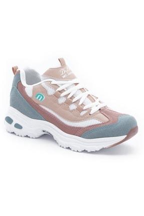 MC Jamper Kadın Su Yeşili Pudra Beyaz File Sneakers Yürüyüş Ayakkabısı 1901