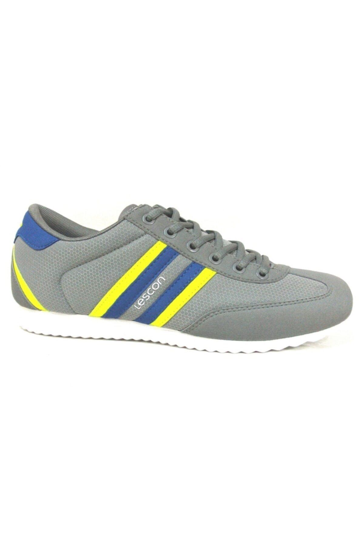 Lescon Gri Fosfor Lifestyle Günlük Spor Ayakkabı 2