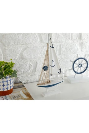 English Home Sailers Mdf Dekoratif Obje 16x3,5x31,5 Cm Beyaz