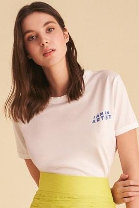 Nocturne Kadın Slogan Baskılı T-Shirt