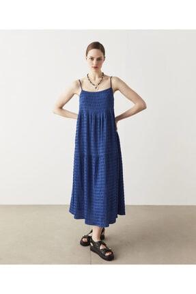 İpekyol Kadın Mavi Geniş Kesim Elbise