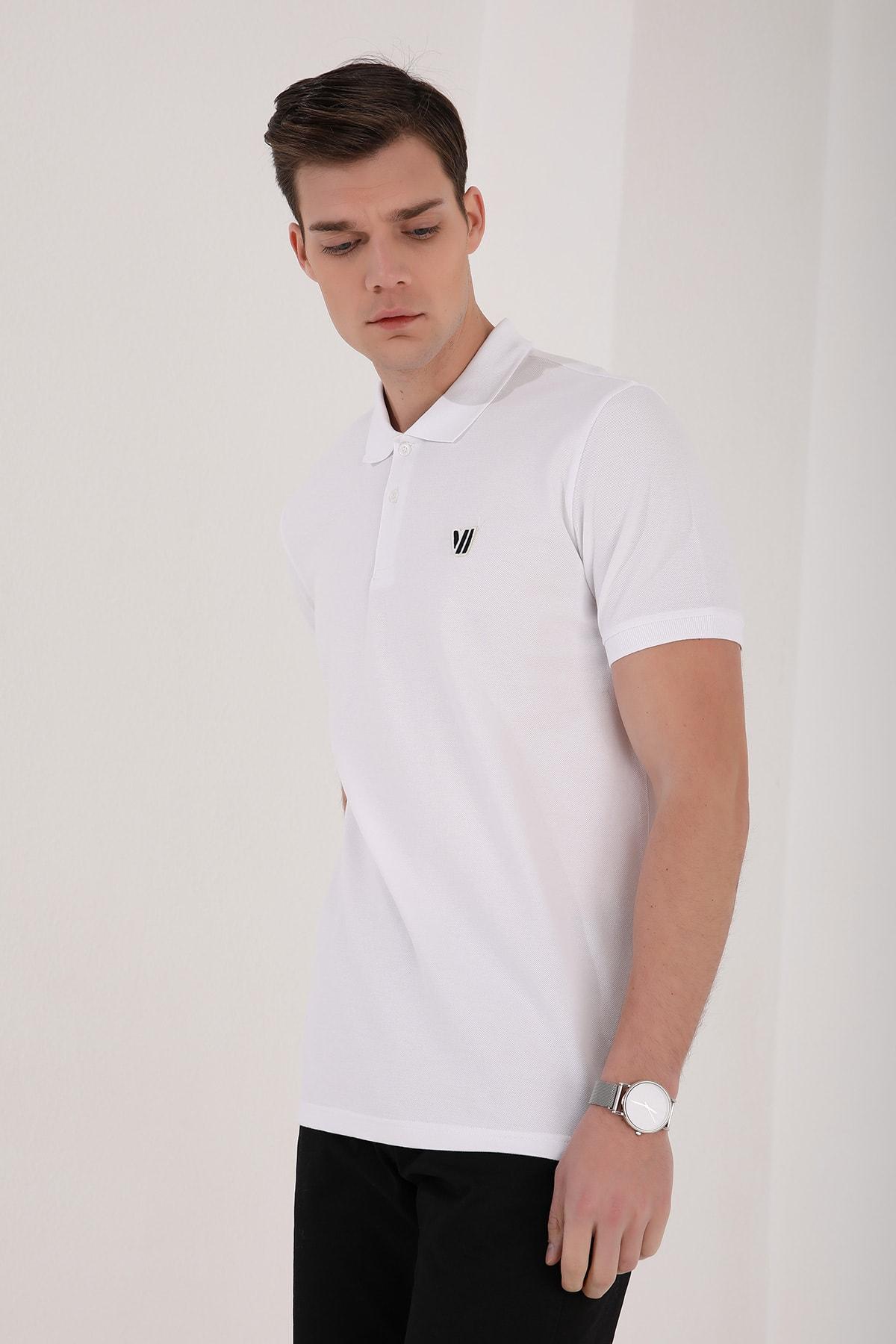 Tommy Life Klasik Polo Yaka Beyaz Erkek Tshirt T08ER-87768 2