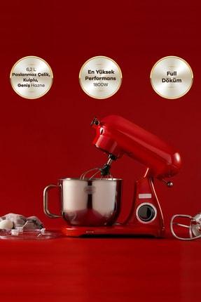 Karaca Powercast Chef Döküm Stand Mikser 1800w Mutfak Şefi Red