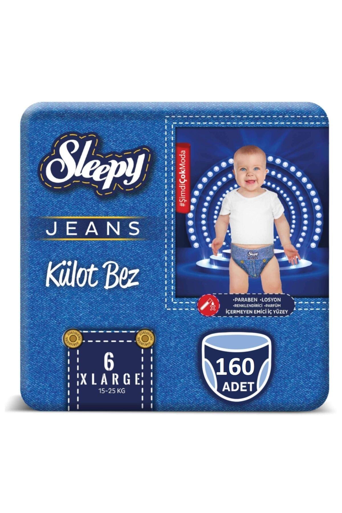 Sleepy Jeans Külot Bez 6 Beden Numara Xlarge 160 Adet 15-25 Kg 1