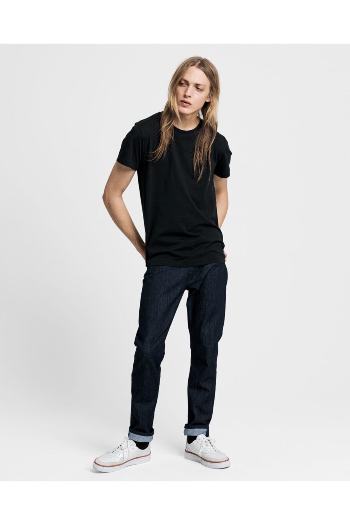Gant Erkek Siyah Standart Fit T-shirt 2