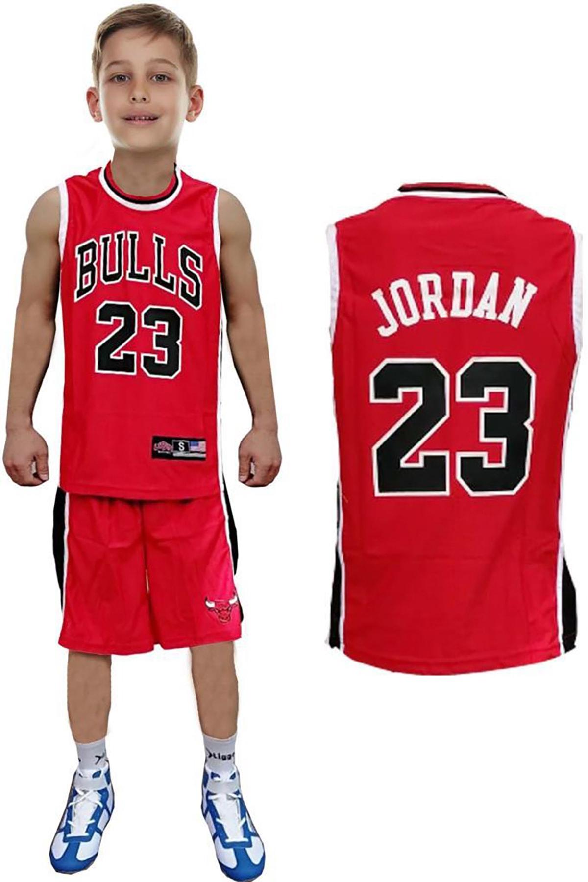 Liggo Chicago Bulls Jordan Çocuk Basketbol Forma Şort Takımı