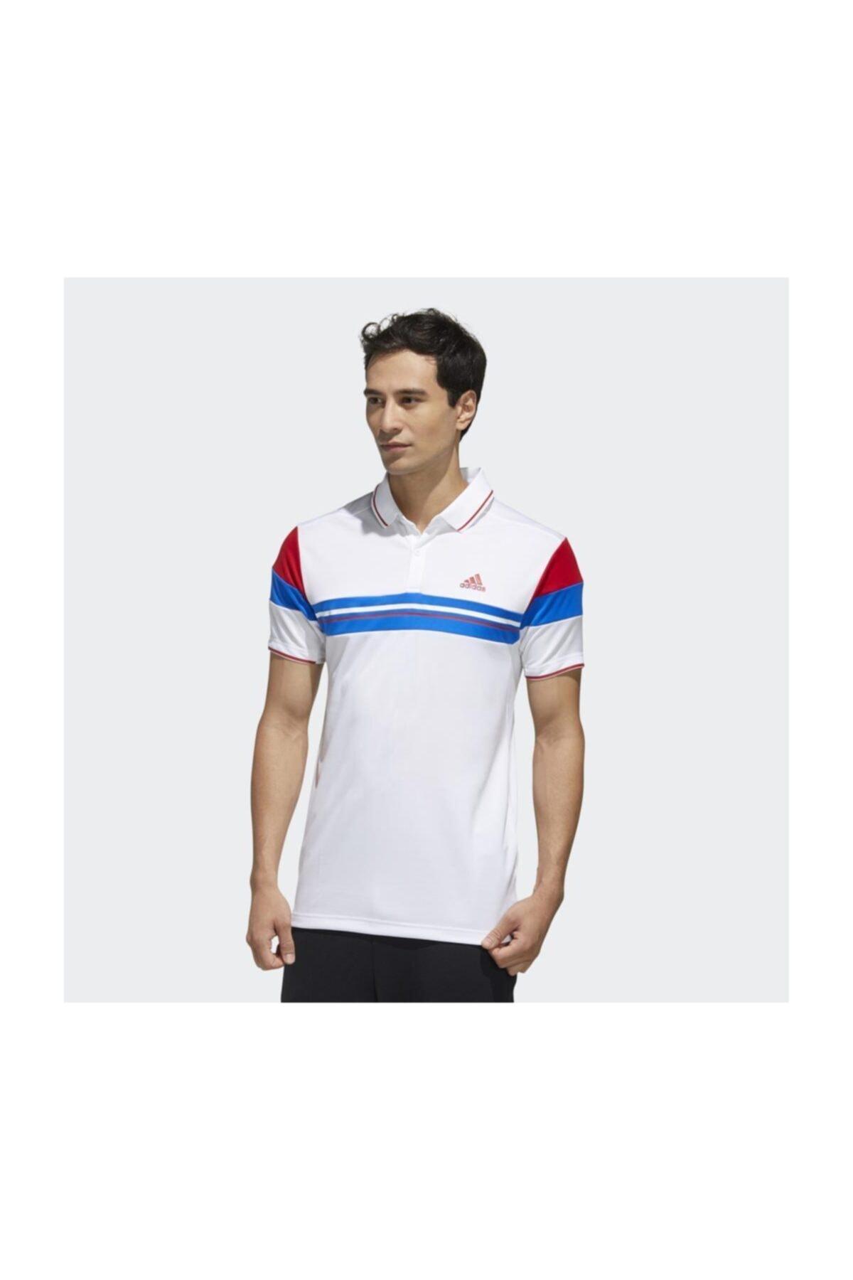 adidas Fk1406 Erkek Beyaz Polo T-Shirt 1