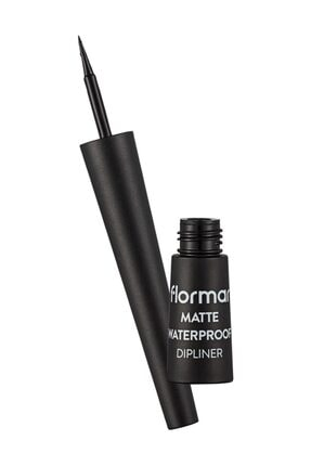 Flormar Mat Siyah Dipliner - Waterproof  8690604536481