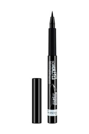 RIMMEL LONDON Siyah Eyeliner - Scandal'Eyes Precision Micro Eyeliner Black 3614222758778
