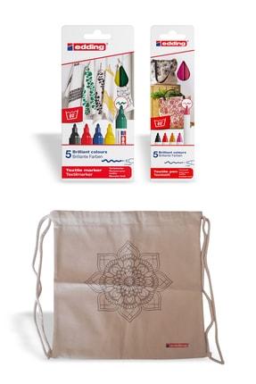 Edding Kumaş Boyama Kalemi Ikili Paket Sıcak+standart