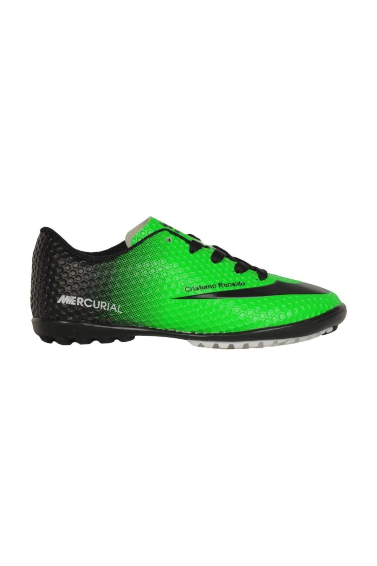 Walked Erkek Çocuk Yeşil 401 Y-s Halısaha  Futbol Ayakkabı 2