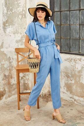 Mispacoz Kadın Tensel Tulum Mavi K113