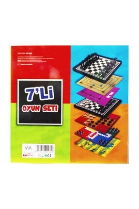 BEMİ 7 Li Oyun Seti Satranç Dama Kızma Birader 3taş Solo Test Yılan 9taş