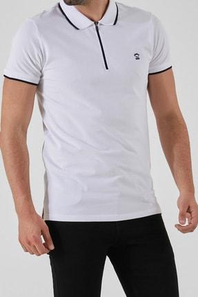 Ltb Erkek  Beyaz Polo Yaka T-Shirt 0122084075609440000