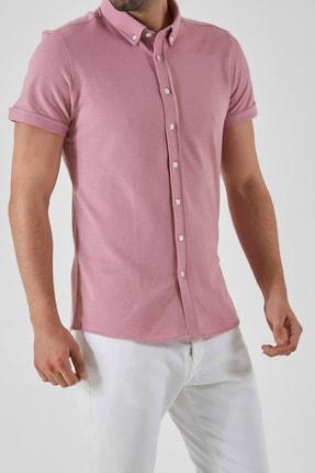 Ltb Erkek  Pembe  Kısa Kol Klasik  Gömlek 012208423760890000