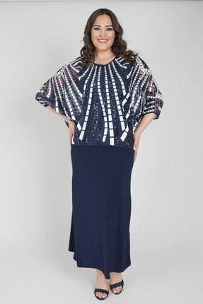 Ladies First Ladıes Fırst Büyük Beden 2780 Lacivert Elbiseli Takım