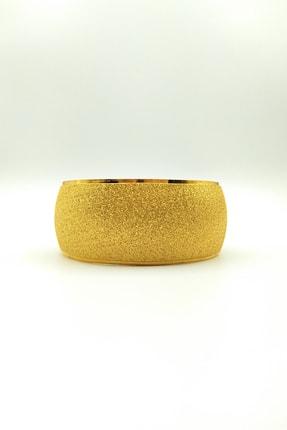 ZEYGOLD Altın Kaplama 3cm Kumlu Kadın Bilezik