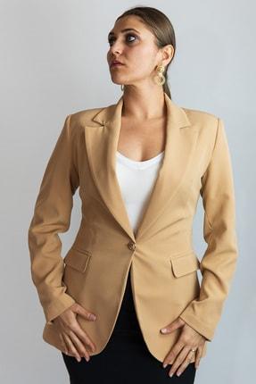 Lefon Kadın Karamel Mono Blazer