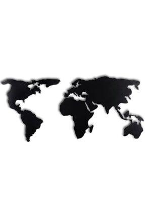 thorqtech Dekoratif Duvar Metal Tablosu Dünya Haritası 60 cm x 120cm Yerli Üretim!