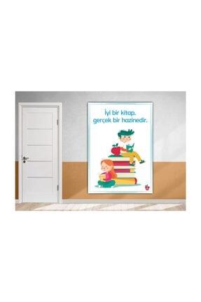 Okulposteri Kitaplar Ve Çocuklar Okul Duvar Afişi (50x70cm Branda)
