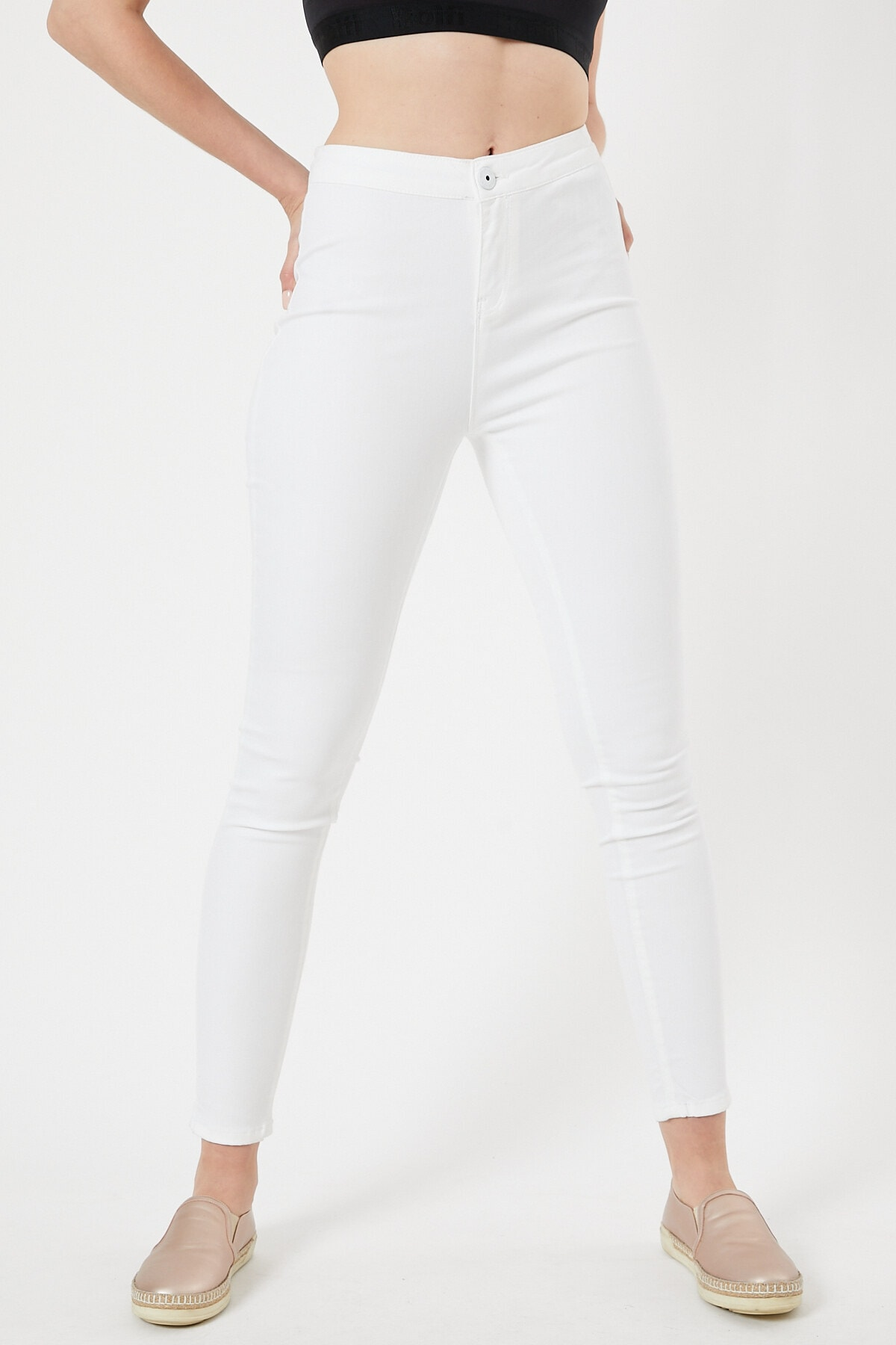 EEL JEANS Beyaz Renk Kadın Tayt Pantolon 2