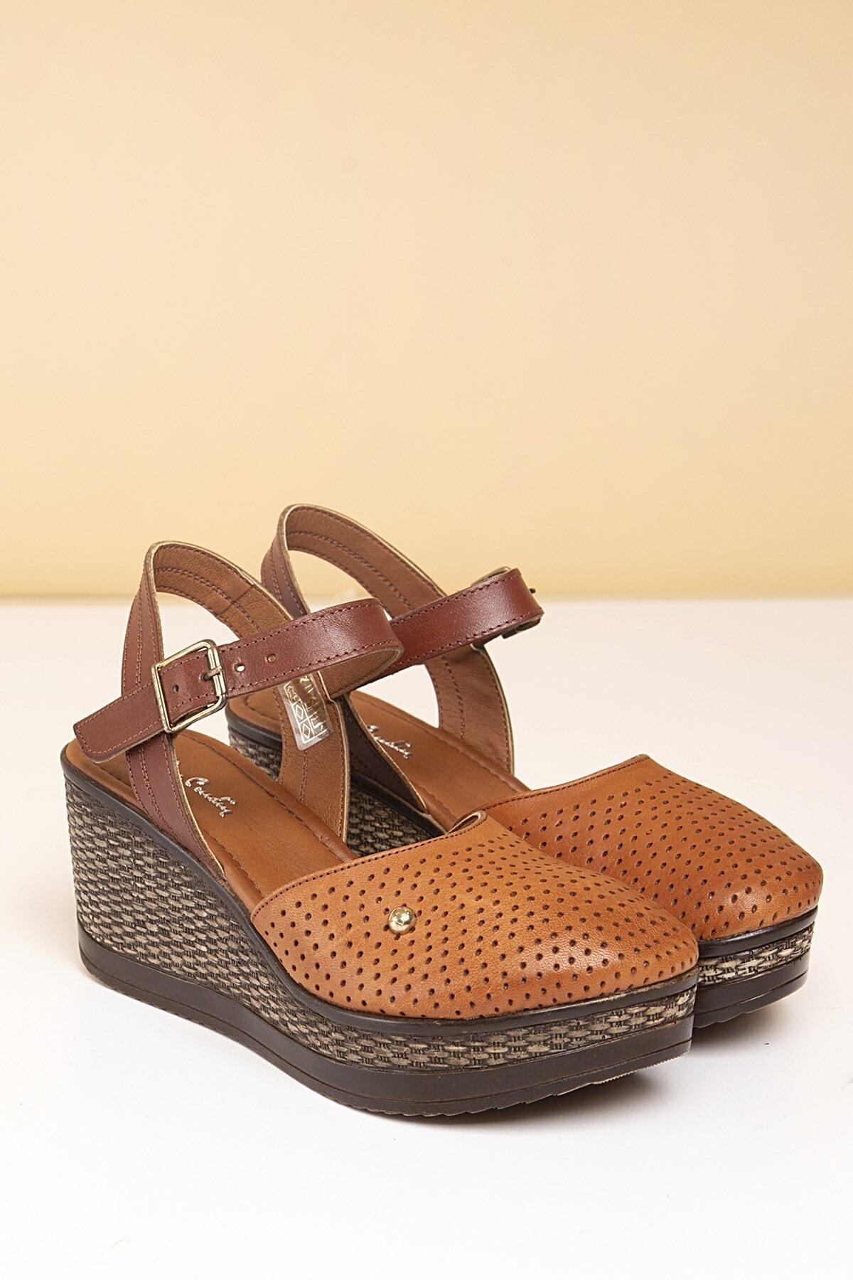 Pierre Cardin Pc-2392 Taba Kadın Sandalet 1