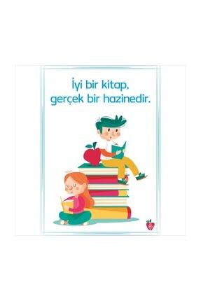 Okulposteri Kitaplar Ve Çocuklar Okul Duvar Afişi (50x70cm Folyo Sticker)