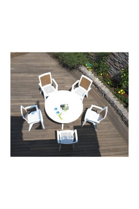 Papatya Sapphire Koltuk Beyaz - Plastik Bahçe Sandalyesi