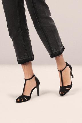 Gökhan Talay Kadın Siyah Süet Topuklu Ayakkabı