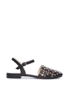 KEMAL TANCA Hakiki Deri Siyah Kadın Sandalet Sandalet 51 8630 BN AYK