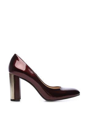 KEMAL TANCA Bordo Kadın Vegan Klasik Topuklu Ayakkabı 22 2049 BN AYK