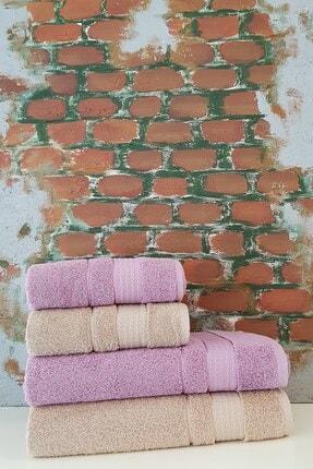 Özdilek Trendy 4 Parça Banyo Havlu Seti - K.lila Bej