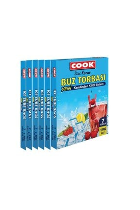 COOK Kilitli Buz Torbası 6'li Fırsat Paketi