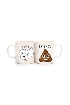 Köstebek Tuvalet Kağıdı & Bok Best Friends Kupa