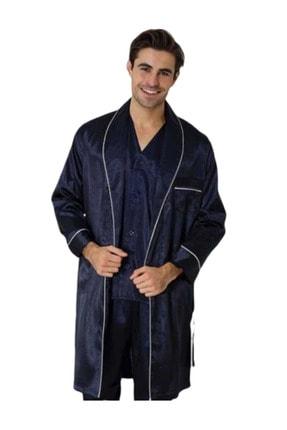 Effort Pijama Effort Erkek Röpteşambırlı 5li Pijama Takımı Lacivert