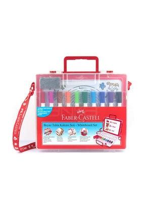 Faber Castell Çantalı Beyaz Tahta Kalemi 10 Renk + Tak-çıkar Tahta