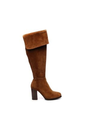 KEMAL TANCA Hakiki Deri Kahverengi Kadın Casual Çizme 94 1104 C BN CIZME