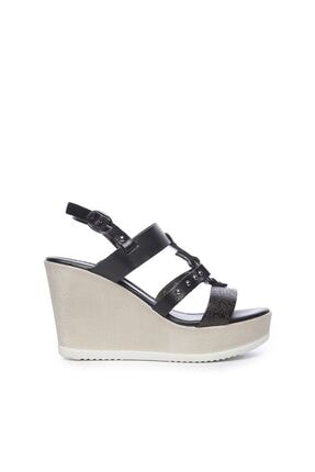 KEMAL TANCA Hakiki Deri Siyah Kadın Sandalet Sandalet 169 6510 BN SNDLT