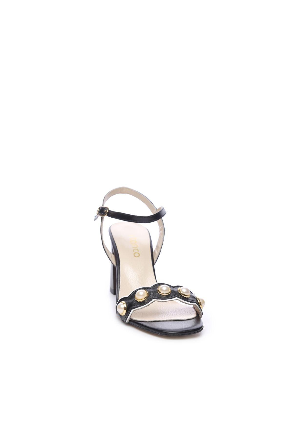 KEMAL TANCA Hakiki Deri Siyah Kadın Topuklu Ayakkabı 94 321 BN AYK 2