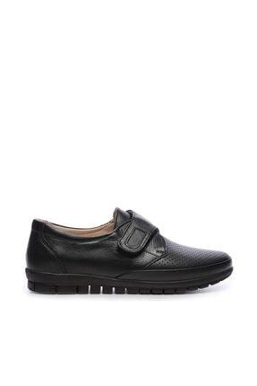 KEMAL TANCA Hakiki Deri Siyah Kadın Comfort Ayakkabı 673 351 BN AYK Y19