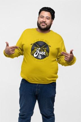 Angemiel Wear Jazz Ve Saksafon Sarı Erkek Sweatshirt