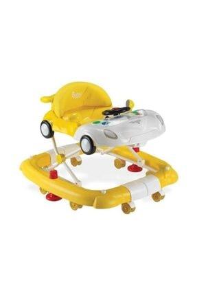 BabyHope Arabam Salla Yürüteç Sarı Beyaz /