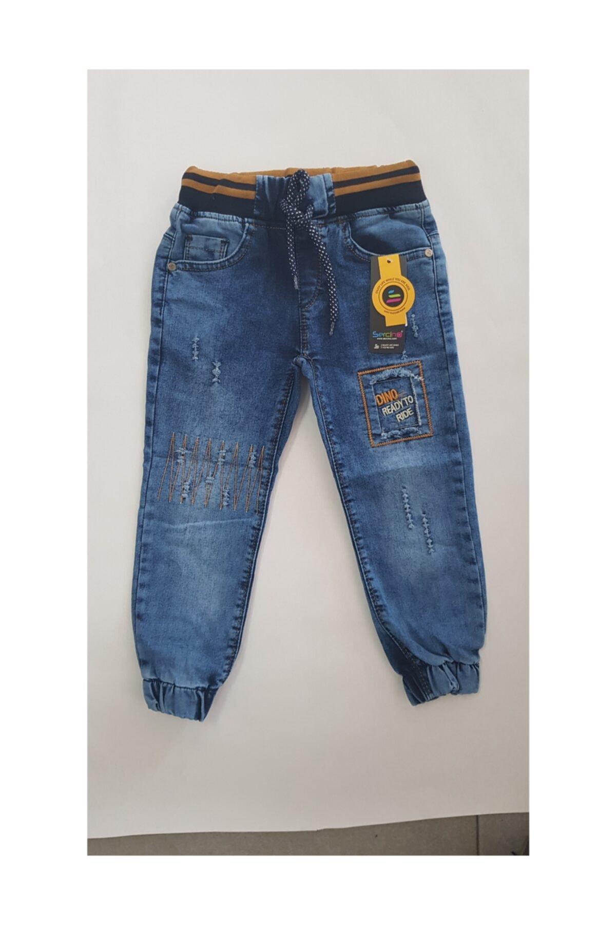 Sercino Erkek Çocuk Pantolonu Jeans Ribanalı 1