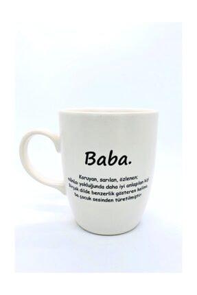 Retina Shop Baba Mat Krem Kupa Bardak Babaya Özel