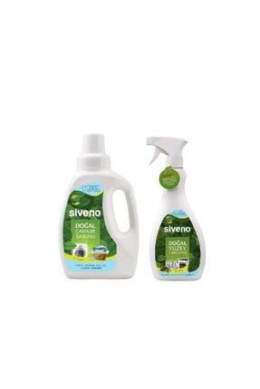 Siveno Doğal Çamaşır Sabunu 750 ml+ Doğal Yüzey Temizleyici 500 ml