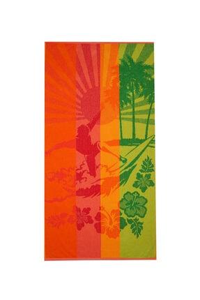 Özdilek Summer Heat Tropical Kadife 70x140 Cm. Plaj Havlusu
