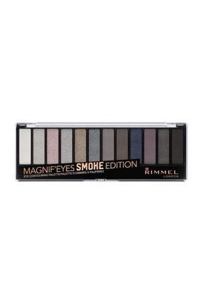 RIMMEL LONDON Far Paleti - Magnif'Eyes Eyeshadow Palette 12'li Smoke Edition 3614224525132